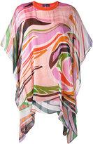 Emilio Pucci draped printed blouse - women - Silk/Cotton - S