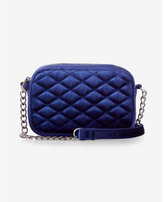 Express velvet quilted mini cross body bag