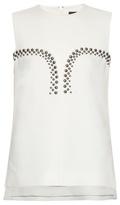 Derek Lam Embellished sleeveless crepe top