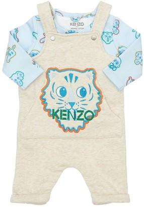 Kenzo Kids L/S T-Shirt & Overalls Set
