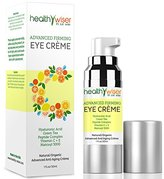 HealthyWiser® - Advanced Firming Eye Cream, Natural and Organic Eye Cream for Wrinkles, Under Eye Treatment, Dark Circles and Puffiness, Contains Matrixyl 3000, Hyaluronic Acid, Peptides And Green Tea