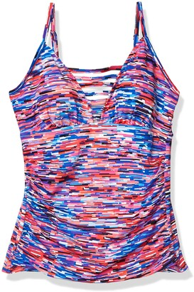 Penbrooke Women's Painted Stripe Sweetheart Tankini w/Spans