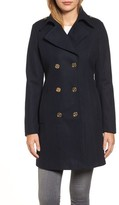 MICHAEL Michael Kors Women's Double Breasted Wool Blend Peacoat