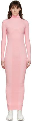 Sunnei Pink Rib Knit High Neck Dress