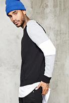 Forever 21 FOREVER 21+ Colorblock Ribbed Sweatshirt