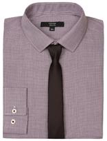 George Long Sleeve Slim Fit Shirt & Tie Set