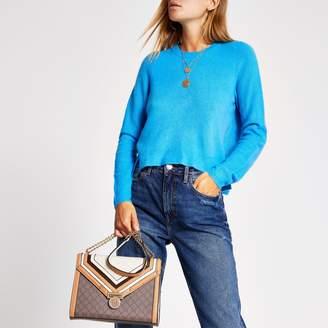 River Island Womens Blue long sleeve knitted jumper