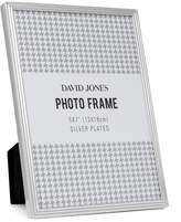 "David Jones Pinstripe' Metal Photo Frame, 5x7""/ 13 x 18 cm"