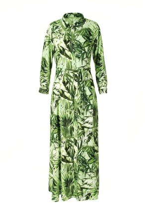 Aggi Yana Green Leaves Dress