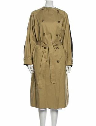 The Frankie Shop Mock Neck Midi Length Dress Brown