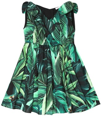 Dolce & Gabbana Kids Printed cotton dress and bloomers set