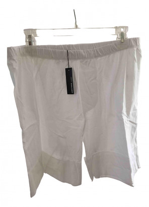 James Perse White Cotton Shorts