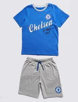 Marks and Spencer Chelsea Football Club Short Pyjamas (3-16 Years)