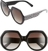 Longchamp 55mm Gradient Geometric Sunglasses