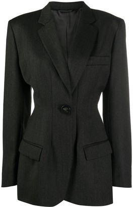 ATTICO Single-Breasted Virgin Wool Blazer
