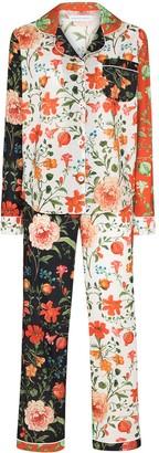 Desmond & Dempsey Persephone floral-print two-piece pyjamas
