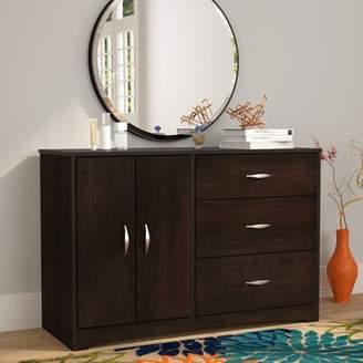 Andover Mills Ryker 3 Drawer Combo Dresser