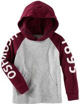 Osh Kosh Hooded Raglan Logo Tee