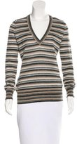 Dolce & Gabbana Metallic Striped Sweater