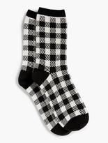 Talbots Tartan Plaid Trouser Sock