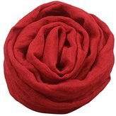 Boys Girls Collar Baby Scarf Cotton Neck Ninasill Scarves (red)