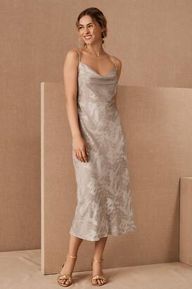 BHLDN Kinsey Midi Dress By in Grey Size 16