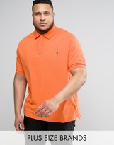 Polo Ralph Lauren Plus Pique Polo Slim Fit In Orange
