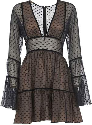 DSQUARED2 Semi See-through Short Dress
