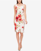 Jessica Simpson Floral-Print Scuba Sheath Dress