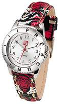 Freegun Boy's Quartz Watch with Silver Dial Analogue Display and Leather Multicolour - EE5122