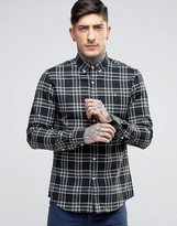 Farah Shirt In Tartan Cotton Slim Fit Green