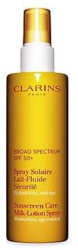 Clarins Women's Sunscreen Care Milk-Lotion Spray SPF 50