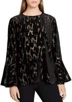 Calvin Klein Flocked Burnout Top