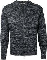 Factotum slub knit zipped sweatshirt