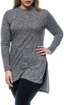 Point Zero Women's Rib-Knit Top With High/Low Hemline
