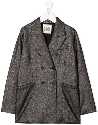 Douuod Kids Double-Breasted Knitted Coat