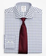 Brooks Brothers Stretch Soho Extra-Slim-Fit Dress Shirt, Non-Iron Twill English Collar Grid Check