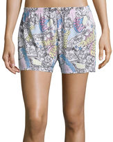 Asstd National Brand Hybrid Graphic Flutter Shorts