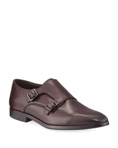 a. testoni a.testoni Leather Double-Monk Shoe