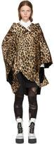 Junya Watanabe Multicolor Leopard Cape Coat