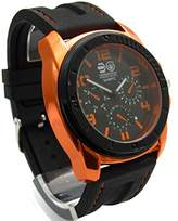 Crosshatch Men's Quartz Watch with Black Dial Analogue Display and Black Silicone Strap CRS31/C