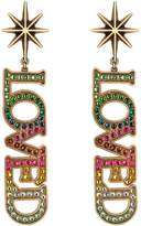 Gucci Loved pendant earrings with pearls