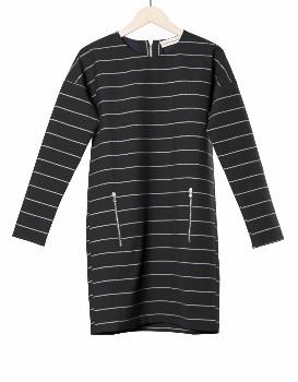 Libertine-Libertine Striped Figgy Dress - XS - Black/Silver