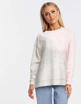 Hollister two tone sweat in gray and pink