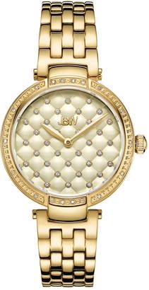 JBW 18K Gold Over Stainless Steel 1/5 CT. TW. Genuine Diamond Bracelet Watch-J6356e