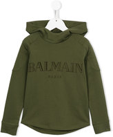 Balmain Kids logo print hoodie