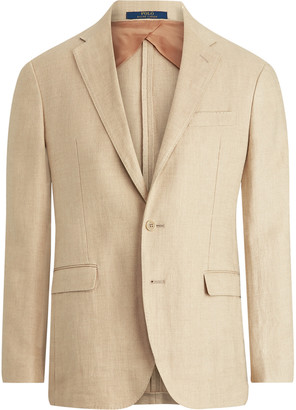 Polo Ralph Lauren Beckham Slim-fit Unstructured Herringbone Linen Blazer - Brown