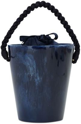 Montunas Lirio Acetate Bucket Bag W/ Navy Rope