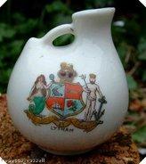 Austrian crested ware roman vase Chester Lytham crest