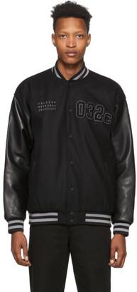 032c Black Felt Logo Patches Varsity Jacket